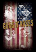 Guns N Roses - Collage - Fabric Music Poster